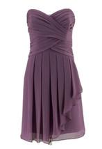 David's Bridal Women's Purple Ruffled Strapless Bridesmaid Formal Dress ... - $17.82