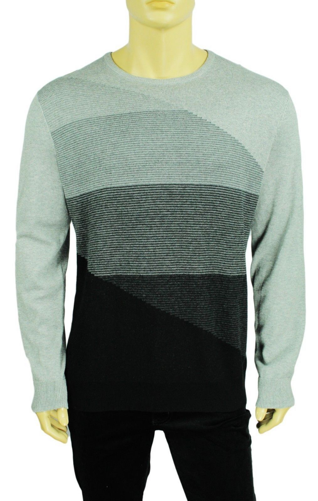 Primary image for NEW CALVIN KLEIN COTTON MODAL END ON END CREW NECK PULLOVER SWEATER $89