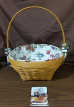 Longaberger 2000 CLASSIC LARGE EASTER BASKET #19186 With Liner & Protector - $69.95