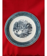 """Royal China by Jeannette Courrier & Ives Blue 10"""" Pie Plate Full / Early Morning - $14.85"""
