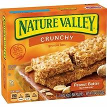 Nature Valley Crunchy Granola Bars, Peanut Butter, 12 ct, 1.5 oz each - $9.82