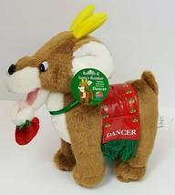 Nanco 2001 Santa's Christmas Reindeer Dancer Plush Stuffed Animal With Tags - $27.80
