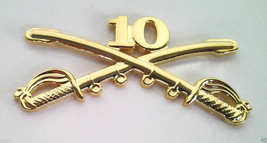 10TH CAVALRY INSIGNIA SWORDS Military Veteran Army Hat Pin 16148 (LARGE)... - $7.91