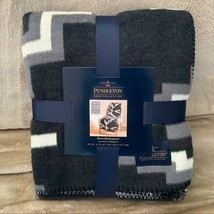 Pendleton Jacquard Throw Blanket Otero Black White Southwestern Aztec Th... - $69.29