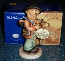"""FINAL ISSUE """"Little Fiddler"""" Goebel Hummel Collectible Figurine TMK8 With Box! - $150.34"""