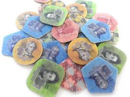 TRANSNISTRIA PMR 1 3 5 10 Rubley 2014 SET 4 Plastic COINS Moldova Uncirculated image 1