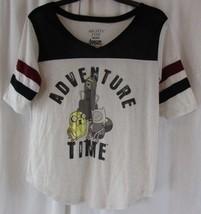 Mighty Fine Adventure Time Cartoon Network Women T-Shirt 3/4 Sleeve Large - $11.87