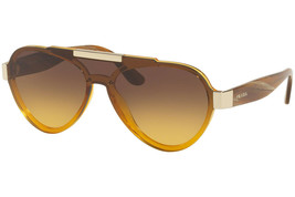 New Prada sunglasses PR01US VY60D4 Yellow Brown Gradient 44mm - $213.40