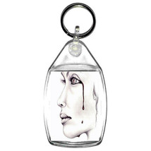 keyring double sided crying girl bleeding for the uk design, keychain