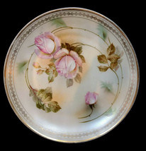 Antique Made in Germany Plate Pink Rose Limoges Cabinet Plate - $16.00