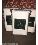 3pc Ralph Lauren White Cotton Twill Standards Pillow Shams NIP - 100% Co... - $65.44
