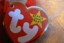 "Vintage Ty Beanie Babies Snort "" The Bull "" Hang Tag/Tush Tag 1995 image 6"