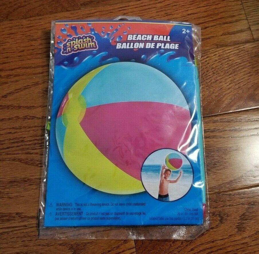 "Splash-n-Swim Multi-Colored 20"" Beach Ball (91272)"
