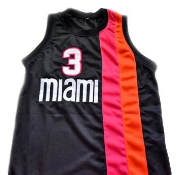 Wade miami basketball jersey black   1