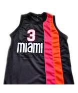 Dwyane Wade #3 Miami Floridians Basketball Custom Jersey Sewn Black Any ... - $29.99+