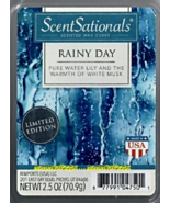 Rainy Day ScentSationals Scented Wax Cubes Tarts Melts Water Lily White Musk - $3.75