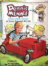 VINTAGE UNCUT 1960 DENNIS THE MENACE PAPER DOLLS~#1 REPRODUCTION~FANTASTIC! - $18.99