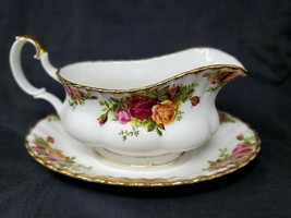 Royal Albert Old Country Roses - Gravy Boat with Underplate - $64.35