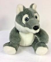 """The Petting Zoo Husky Malamute Wolf Plush Blue Eyed Stuffed Animal 7"""" Lovey - $11.88"""