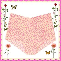 XL Yellow Pink HEART NO SHOW Seamless Victorias Secret High Waist Brief ... - $10.99