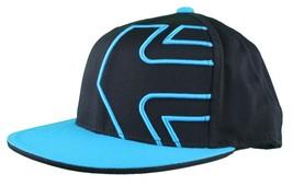 Etnies Chevy 210 Fitted Flex Fit Black Cyan Blue Hat Size: L/XL