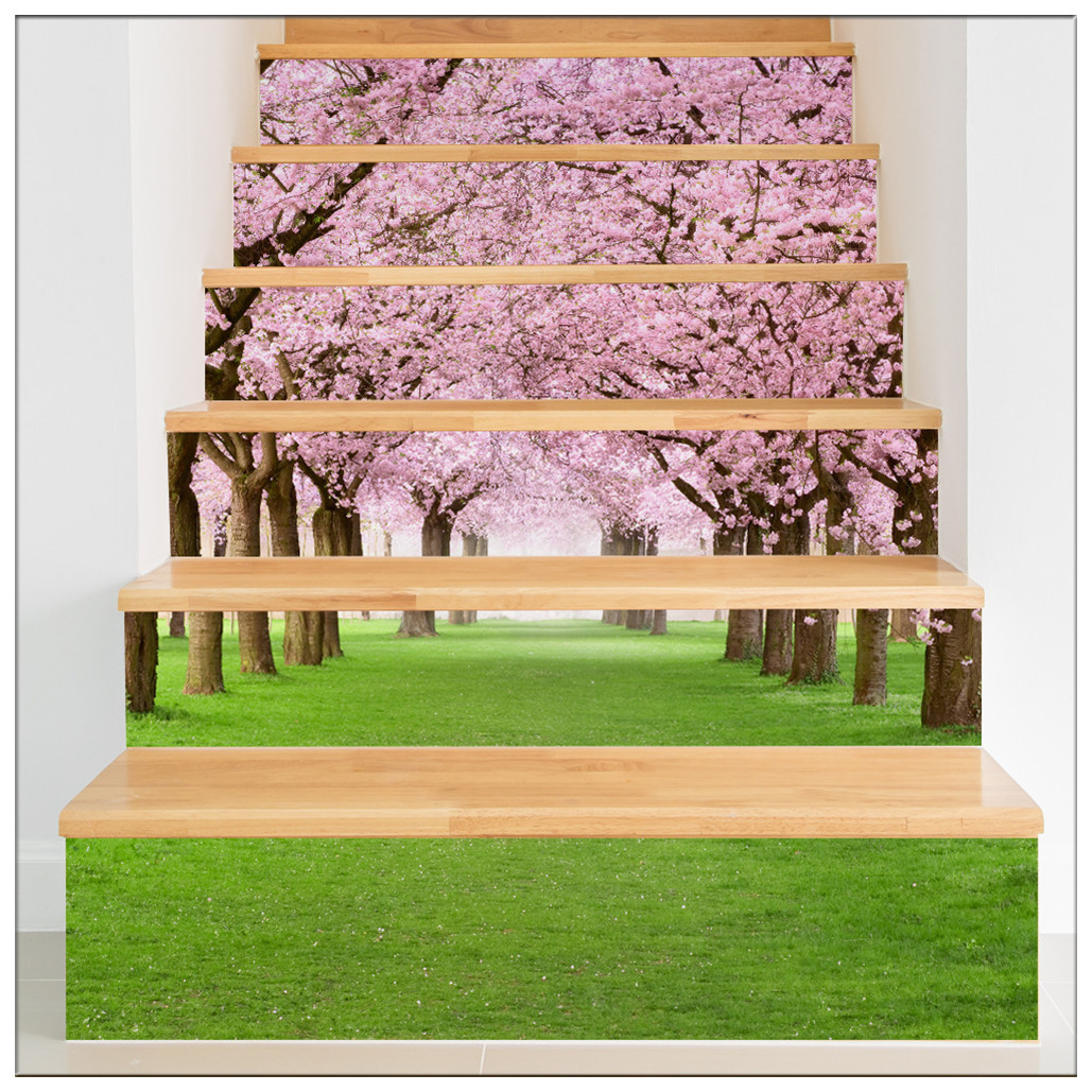 Primary image for DIY Steps Sticker Removable Stair Sticker Mural Wrap010 Sakura