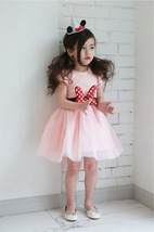 Pink tulle Wedding Flower Girl Dresses Caped Sleeve  Pageant Party Gowns Pricess image 2