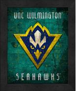 "UNC Wilmington Seahawks ""Retro College Logo Map"" 13x16 Framed Print  - $39.95"