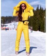 Winter Snowsuit Nylon Skisuit Damenoverall Anzug Yellow Snow Jumpsuit Wa... - $249.00