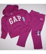 baby Gap NWT Girl Outfit Set Magenta Pink Hoodie & Sweat Pants - $44.12