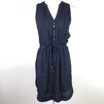 Maeve Anthropologie Dress Women's Size XS Blue Button Down Tie Waist  - $35.28