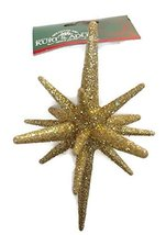 Gold Glitter Starburst Ornament (Starburst) - $10.00