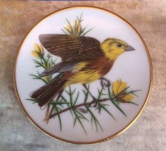 """Franklin Porcelain Songbirds World 3 1/4"""" Miniature Collector Plate Yell... - $8.90"""