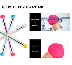 2 Way Nail Art Sponge Brush Silicone Stamper Head Gradient Painting Shading Tool image 3