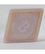 Boyd Crystal Art Glass Diamond B Logo Paperweight #21 Crown Tuscan, Pink... - $32.00