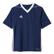 adidas Youth Tiro 17 Jersey Dark Blue-white Small - $38.07
