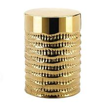 Accent Plus Gold Textured Stool 13x13x18 - $87.62