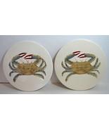 Lot 2 Beachcomber Ceramic Crab Kitchen Trivet Wall Decor Nautical Beach ... - $16.82