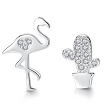 Christmas Gift Fashion 925 Sterling Silver Stud Earrings Heart Cross Cat Moon St - $11.21