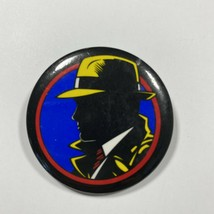 Vintage Collectible Disney Dick Tracy Black Button Pin Badge 1990s - $6.60
