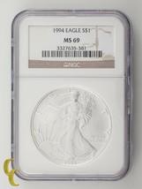 1994 Argent 1 oz American Eagle NGC Classé - $124.23