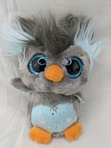 "Yoohoo Friends Gray Blue Owl Silver Stars Plush 6"" Aurora Stuffed Animal Toy - $6.95"