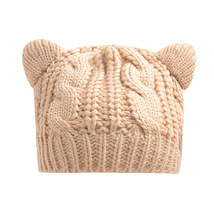 Fashion Hats Knitted Warm Ski Crochet Slouch Hat Cat Ear Wool Cap - £11.15 GBP