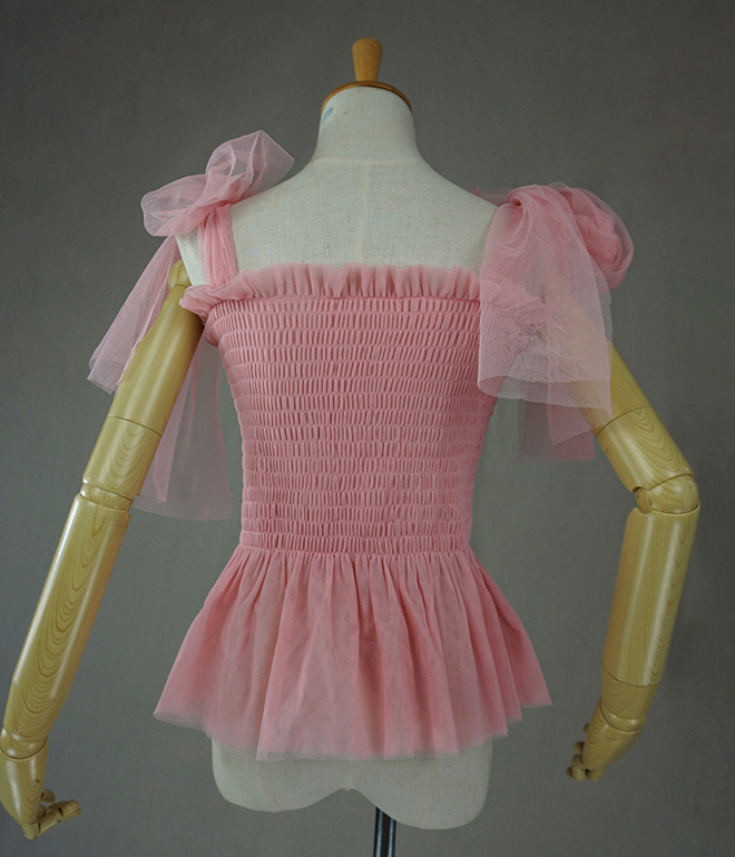 Tulle top pink 4