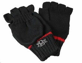 Billionaire Mafia Classic Black Knit Fingerless Gloves w Mitten image 1