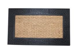 Welcome Mats, Reptile Texture Border Coir Outdoor Decorative 18x30 Coir ... - $26.09