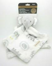 Blankets and Beyond Baby Security Blanket Grey Elephant White NuNu Blankie - $17.99
