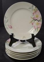 6 Noritake Bread & Butter Plates * Azalea Pattern 19322  * Gold Trim * Red Mark - $14.24