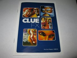 2003 Clue FX Board Game Piece: Instruction Booklet - $2.00