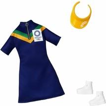 Barbie Clothes: Olympics Fashion - Blue Dress with Visor - $9.89
